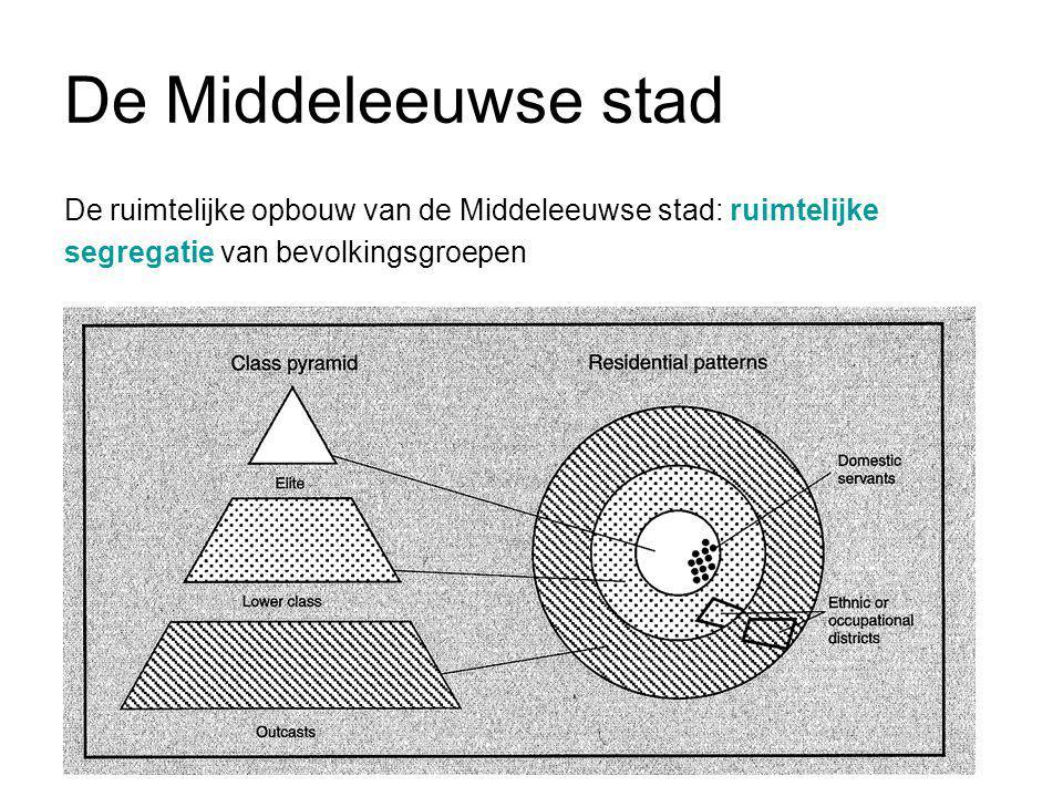 De Middeleeuwse stad De ruimtelijke opbouw van de Middeleeuwse stad: ruimtelijke.