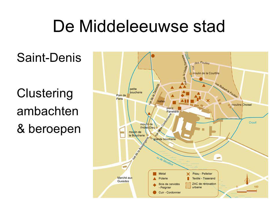 De Middeleeuwse stad Saint-Denis Clustering ambachten & beroepen