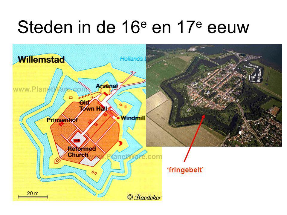 Steden in de 16e en 17e eeuw 'fringebelt'