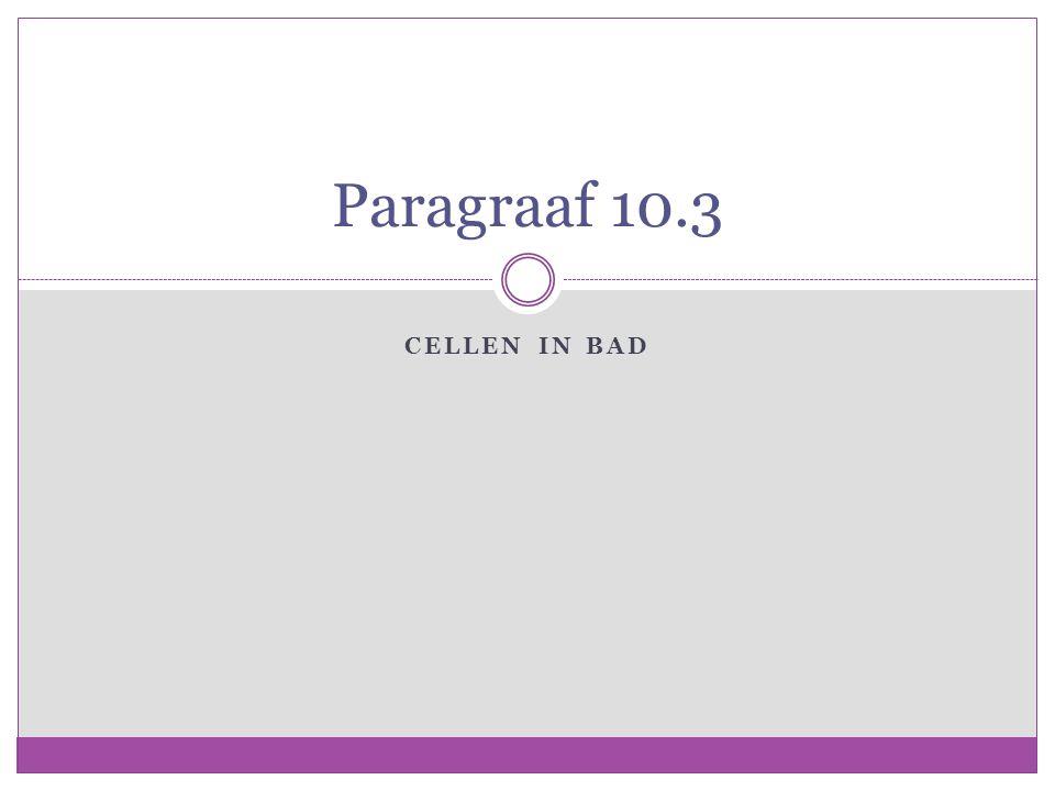 Paragraaf 10.3 Cellen in Bad
