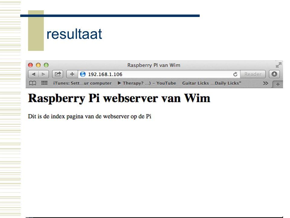 resultaat Raspberry-Pi