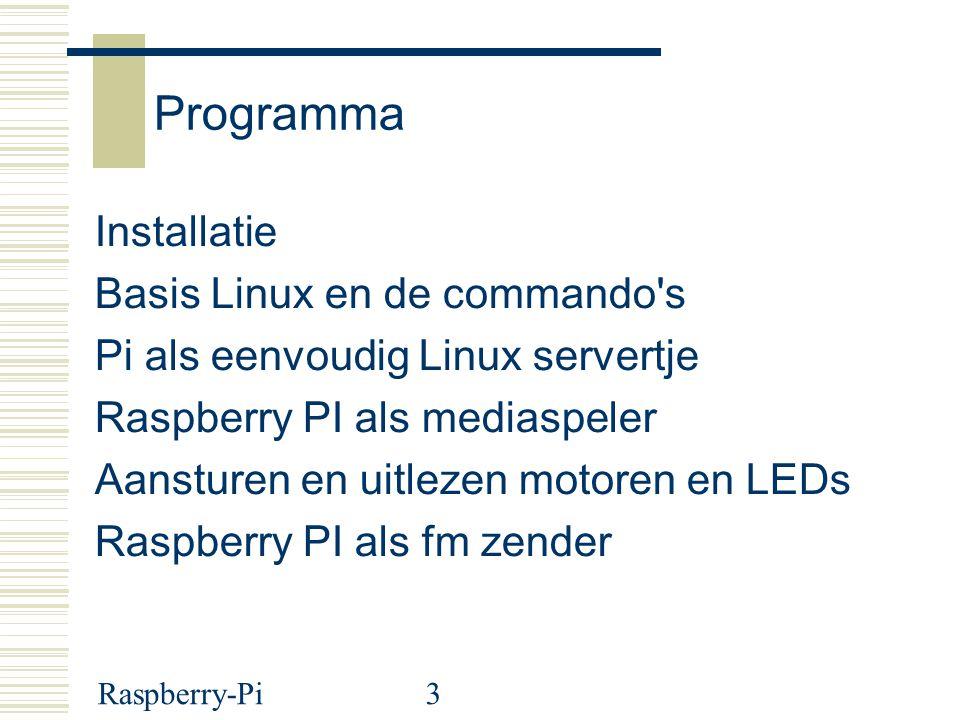 Programma Installatie Basis Linux en de commando s