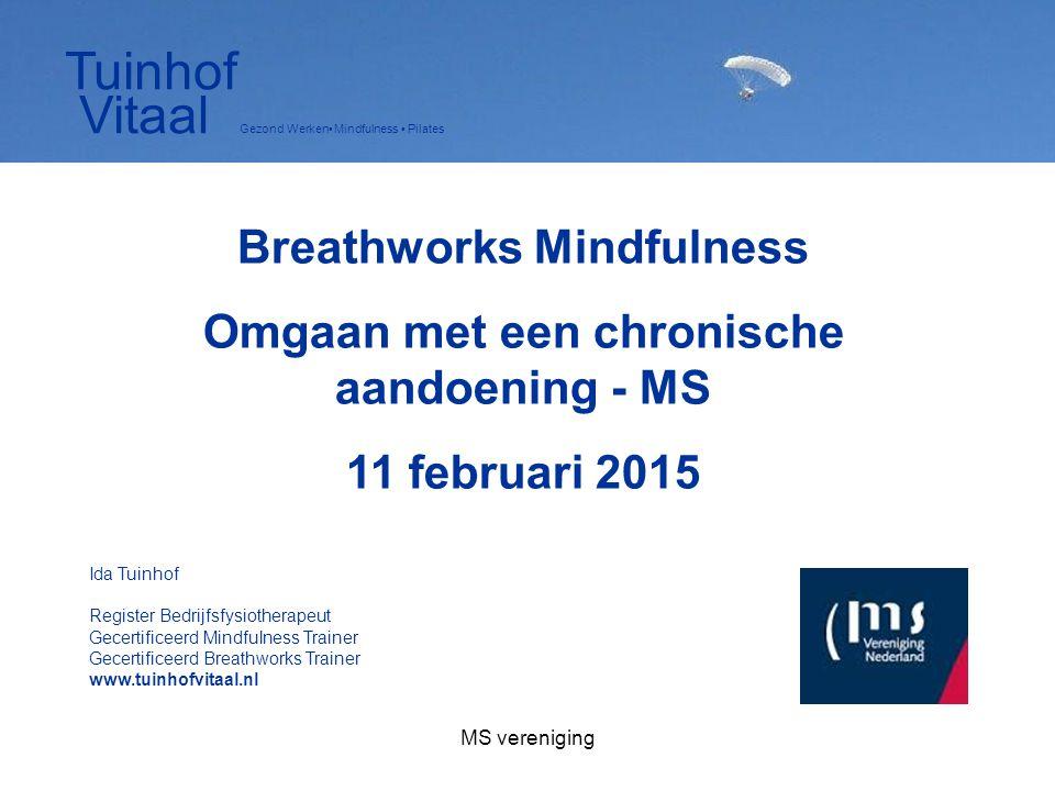 Breathworks Mindfulness Omgaan met een chronische aandoening - MS