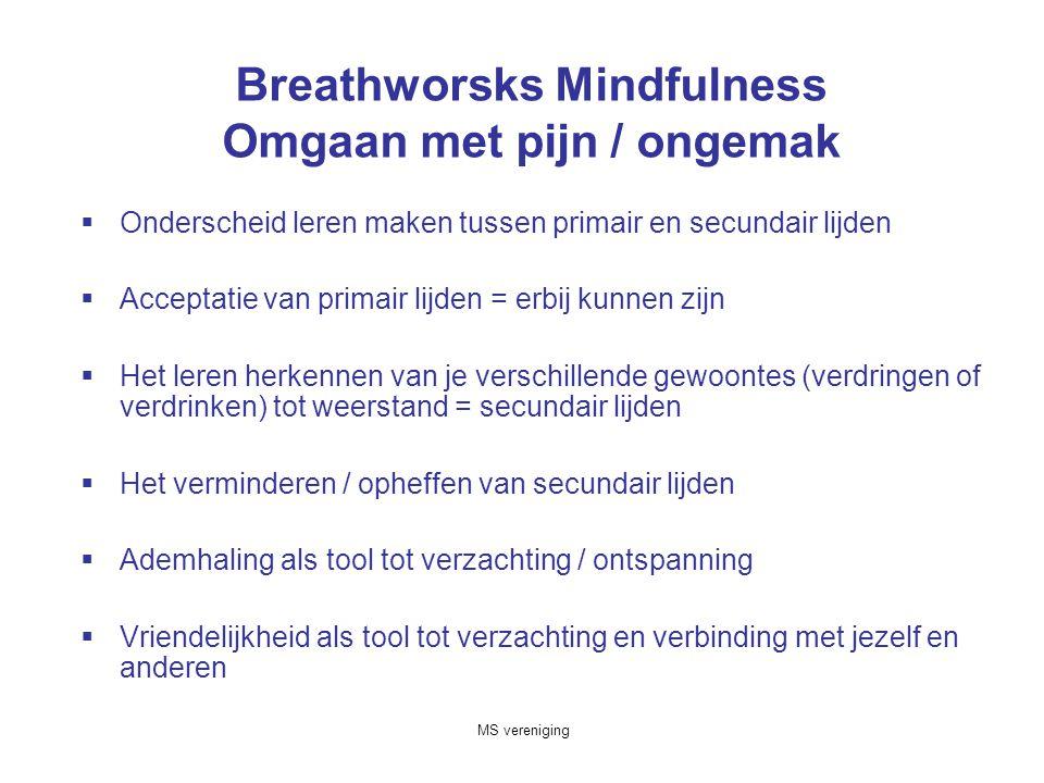 Breathworsks Mindfulness Omgaan met pijn / ongemak