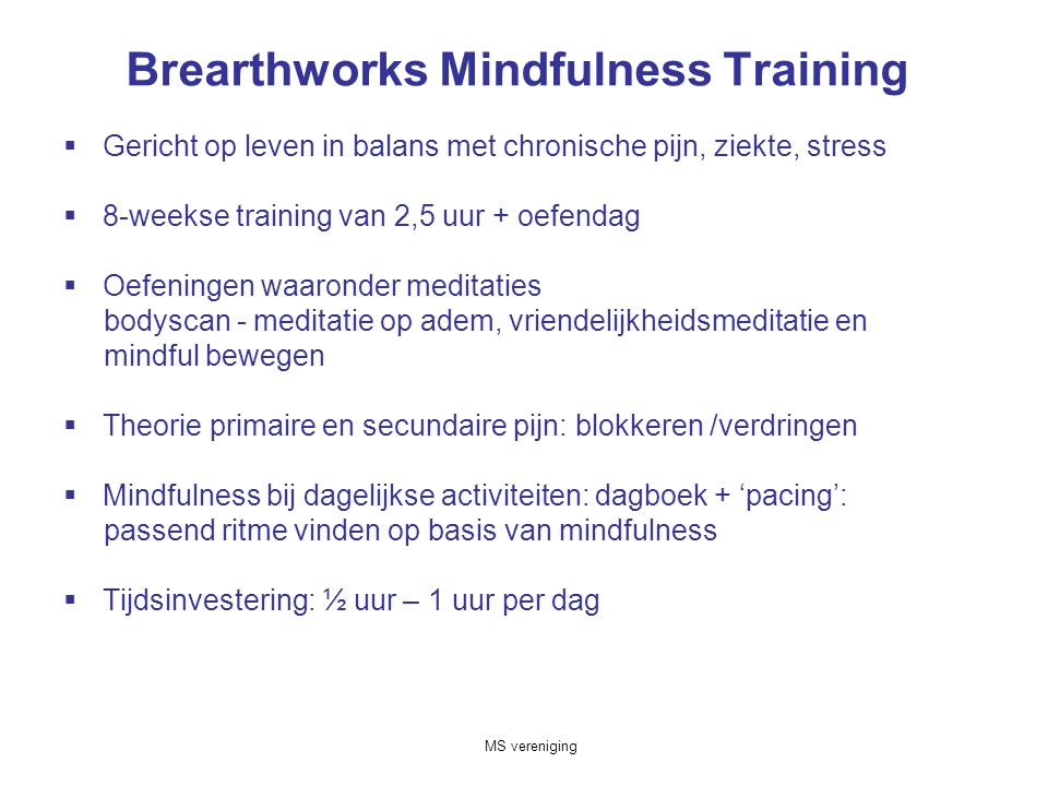 Brearthworks Mindfulness Training