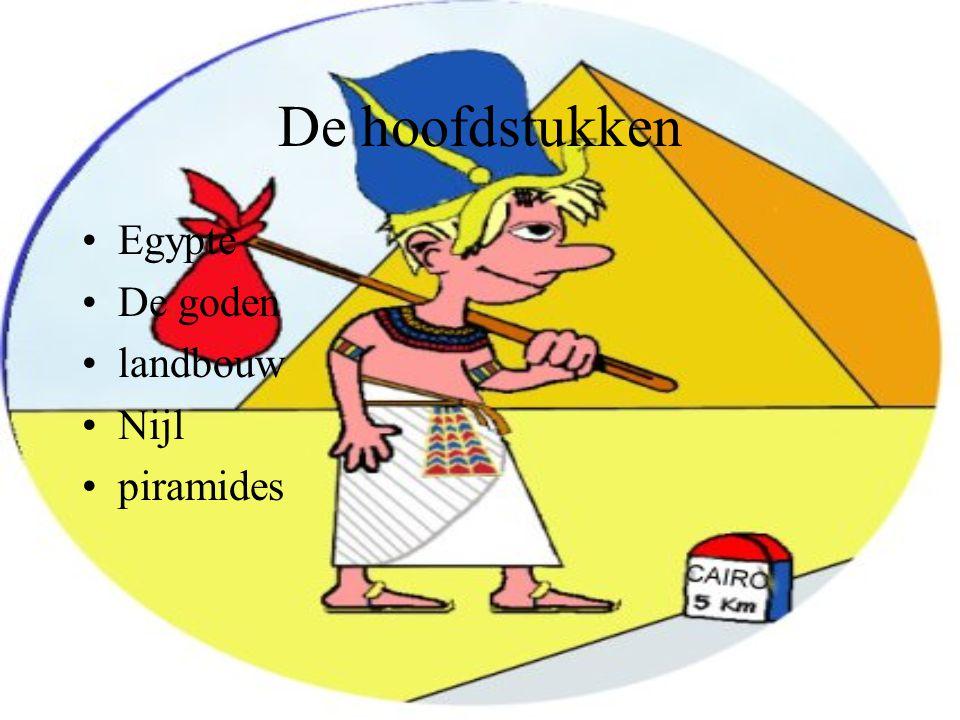 De hoofdstukken Egypte De goden landbouw Nijl piramides