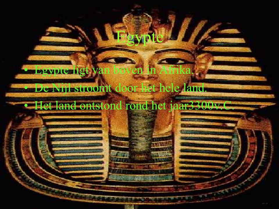 Egypte Egypte ligt van boven in Afrika.