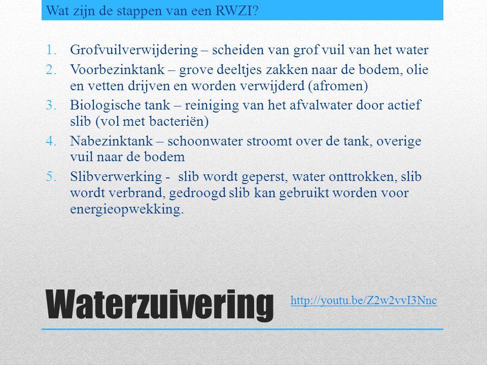 Waterzuivering Wat zijn de stappen van een RWZI