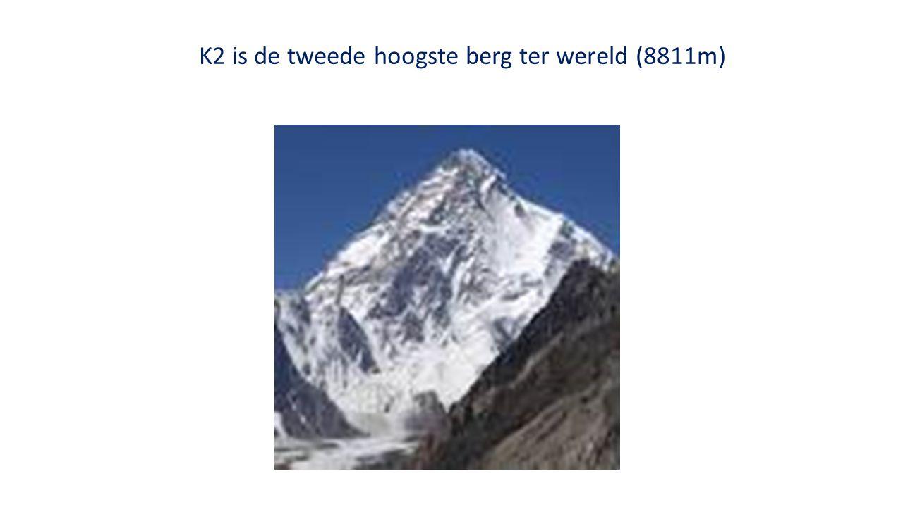 K2 is de tweede hoogste berg ter wereld (8811m)