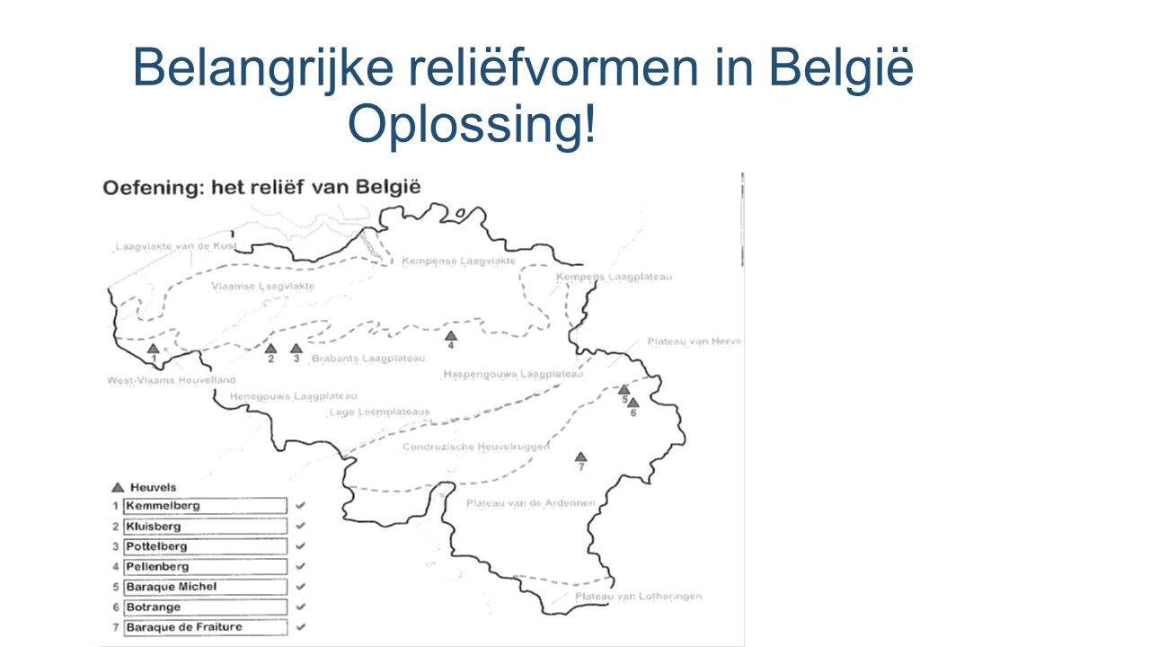 Belangrijke reliëfvormen in België Oplossing!