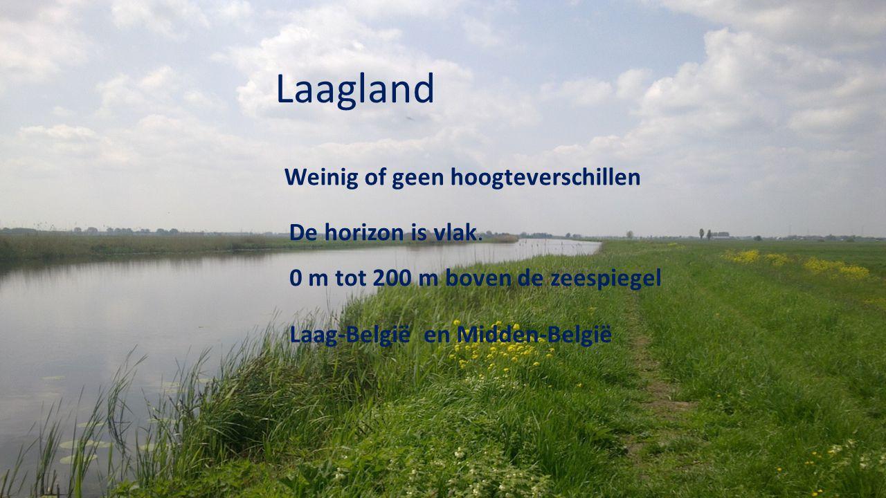 Laagland Weinig of geen hoogteverschillen De horizon is vlak.