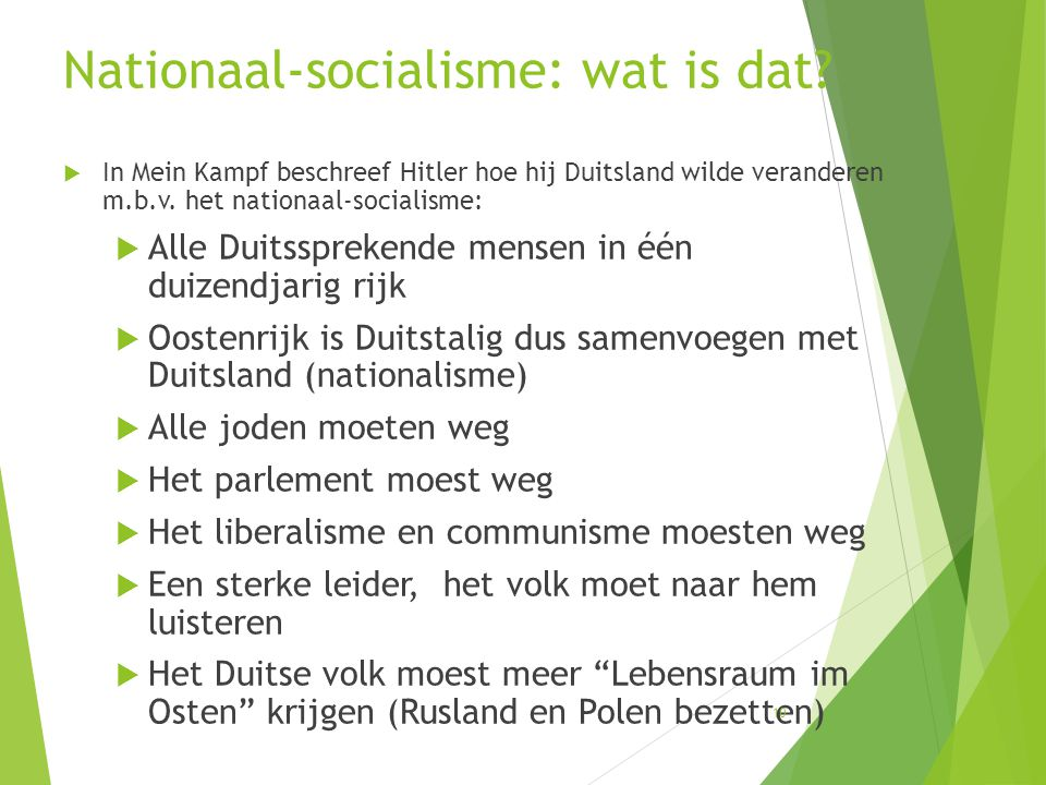Nationaal-socialisme: wat is dat