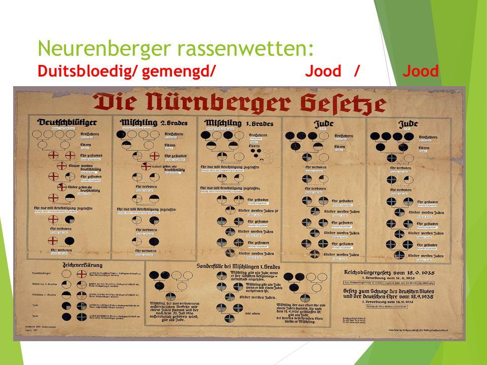 Neurenberger rassenwetten: Duitsbloedig/ gemengd/ Jood / Jood
