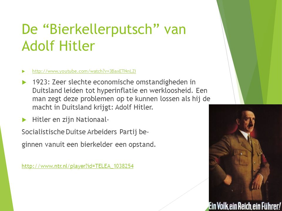De Bierkellerputsch van Adolf Hitler