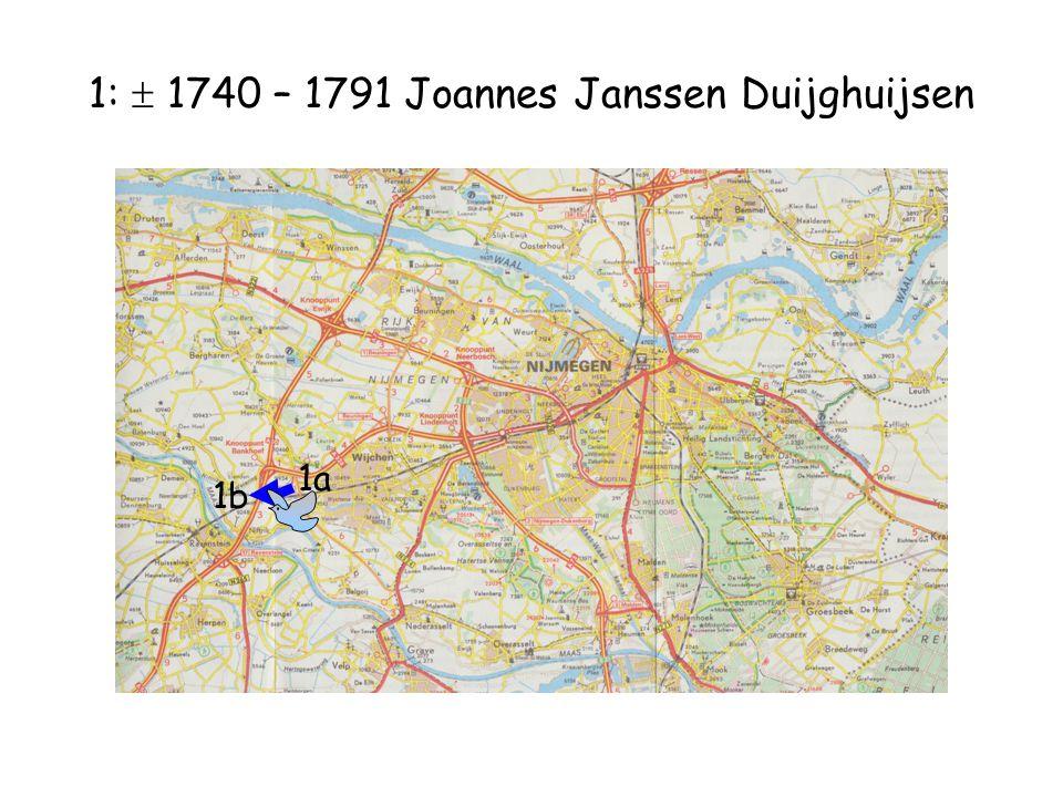 1:  1740 – 1791 Joannes Janssen Duijghuijsen