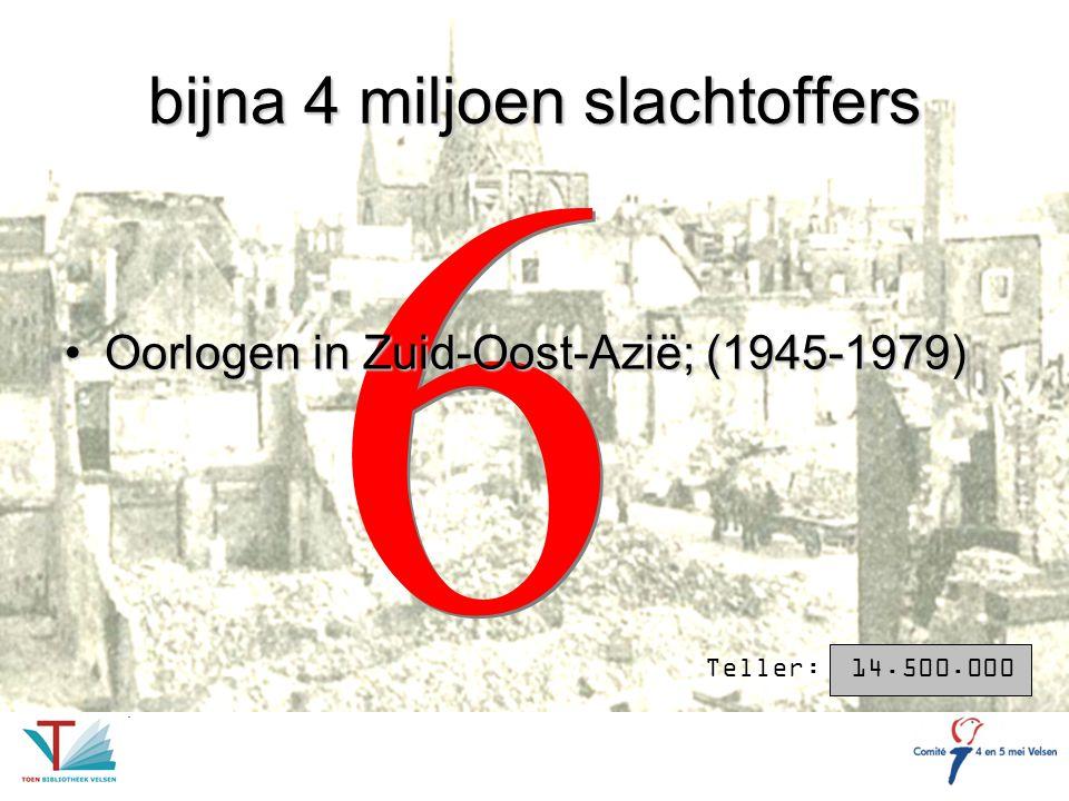 bijna 4 miljoen slachtoffers