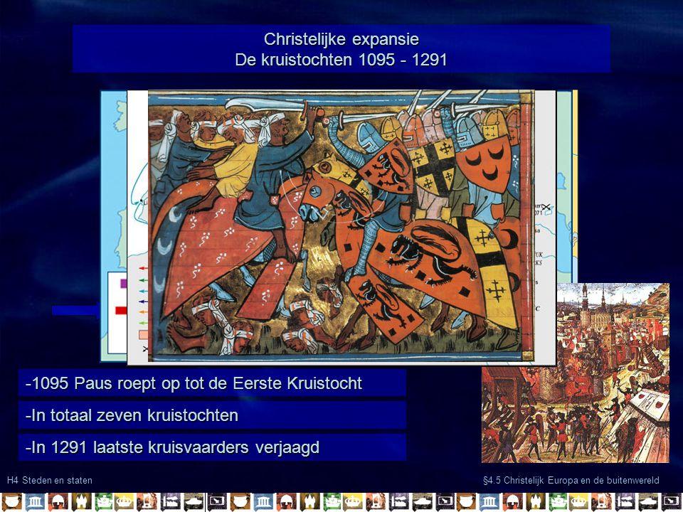 Christelijke expansie De kruistochten 1095 - 1291