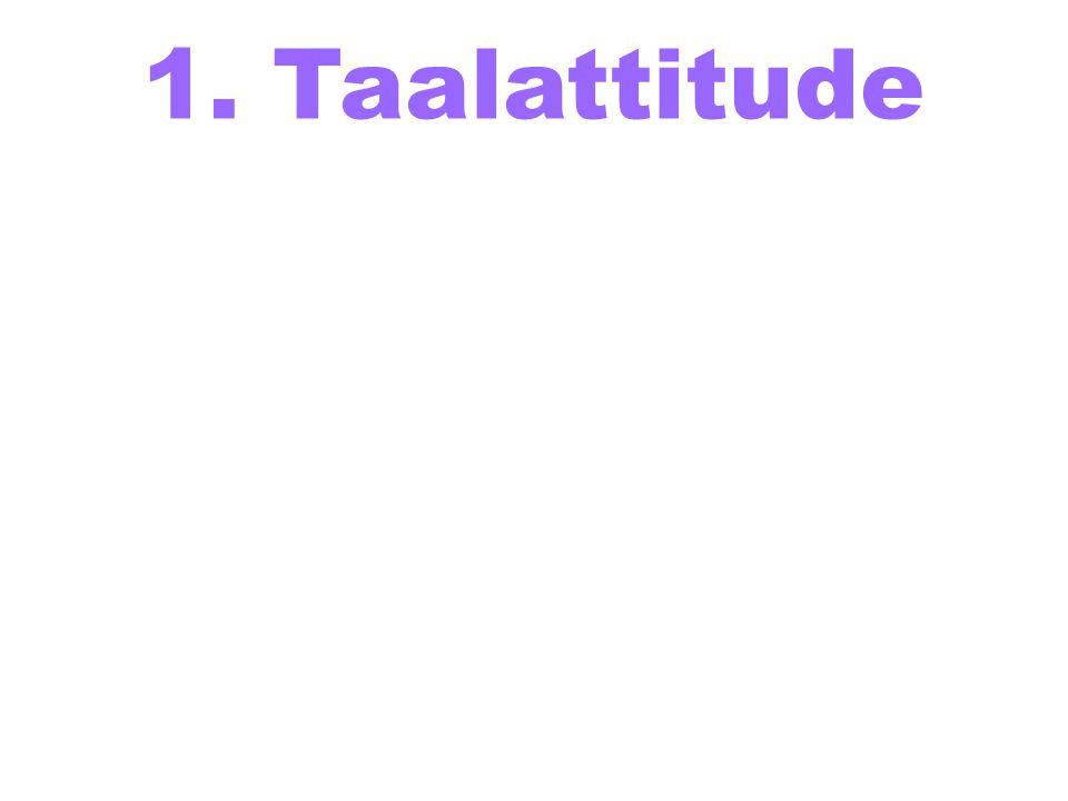 1. Taalattitude