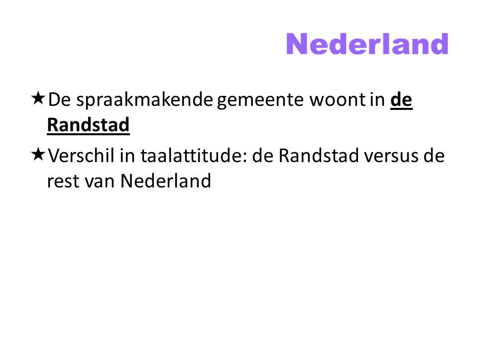 Nederland De spraakmakende gemeente woont in de Randstad