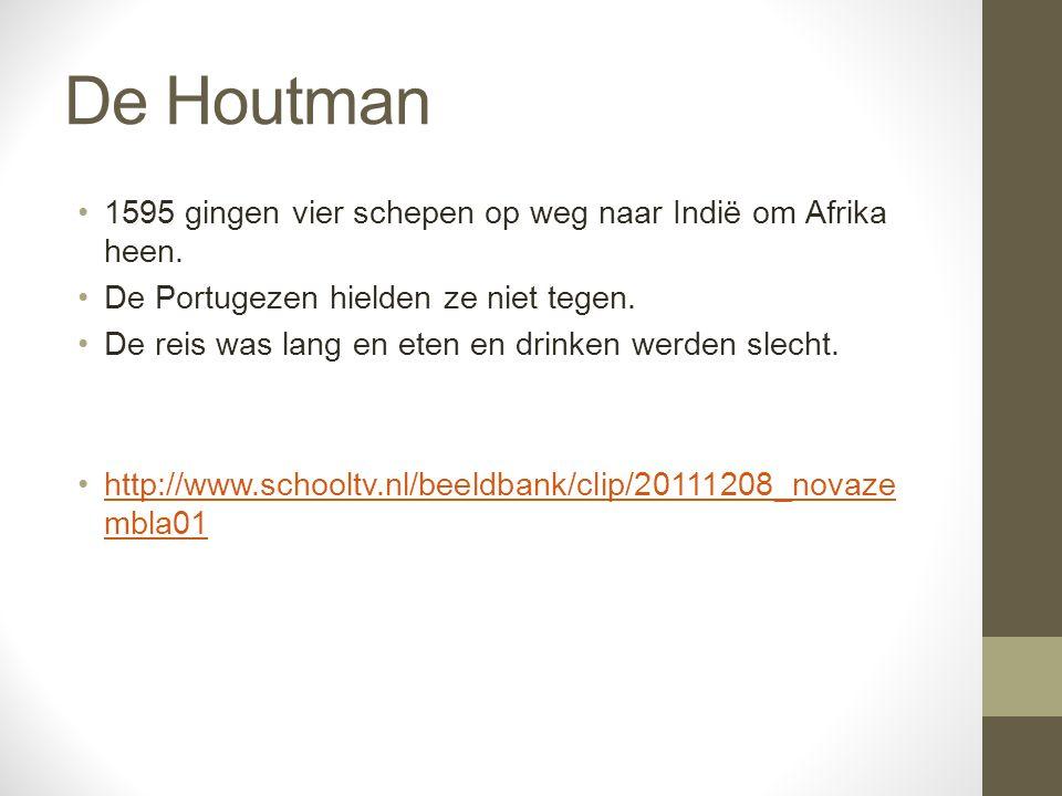 De Houtman 1595 gingen vier schepen op weg naar Indië om Afrika heen.