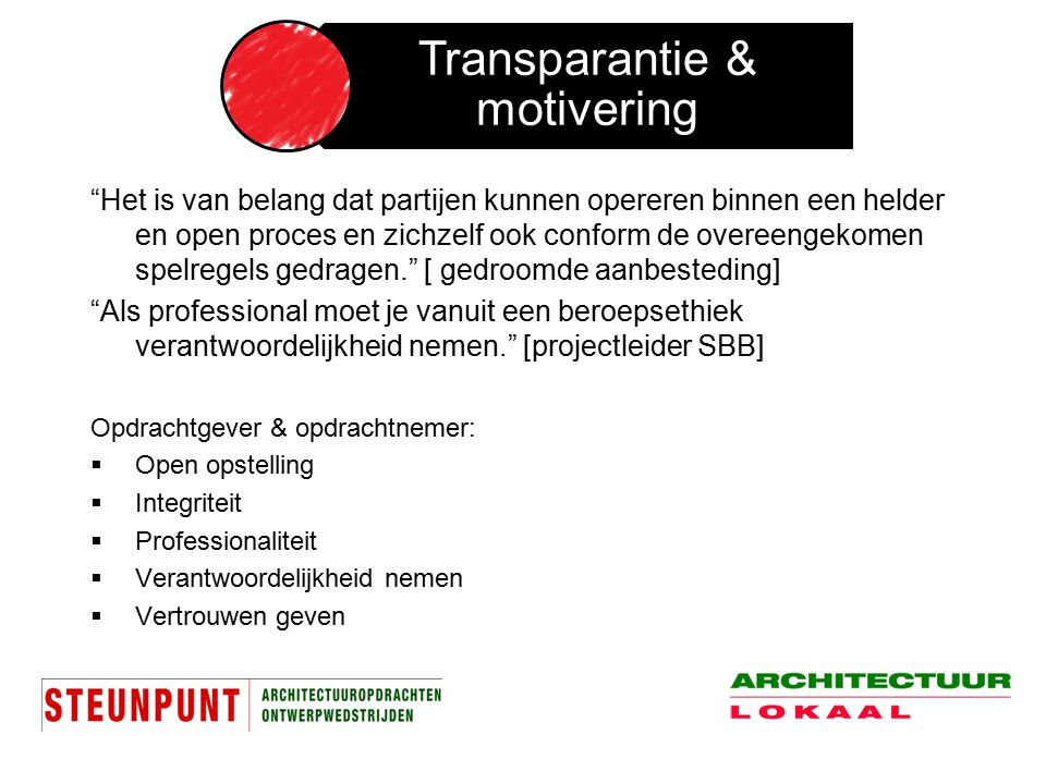 Transparantie & motivering