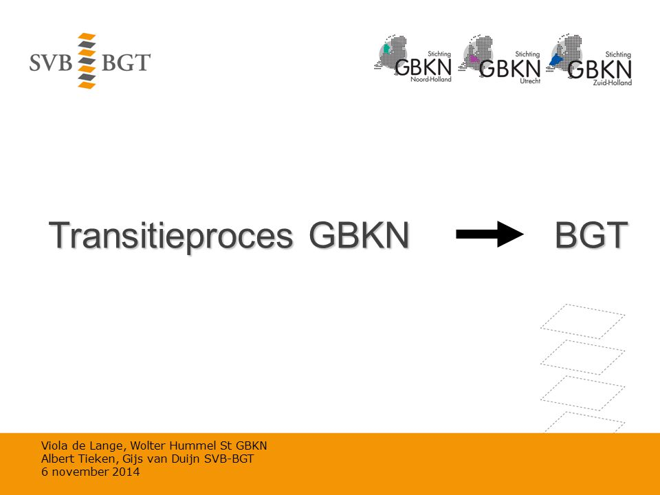 Transitieproces GBKN BGT