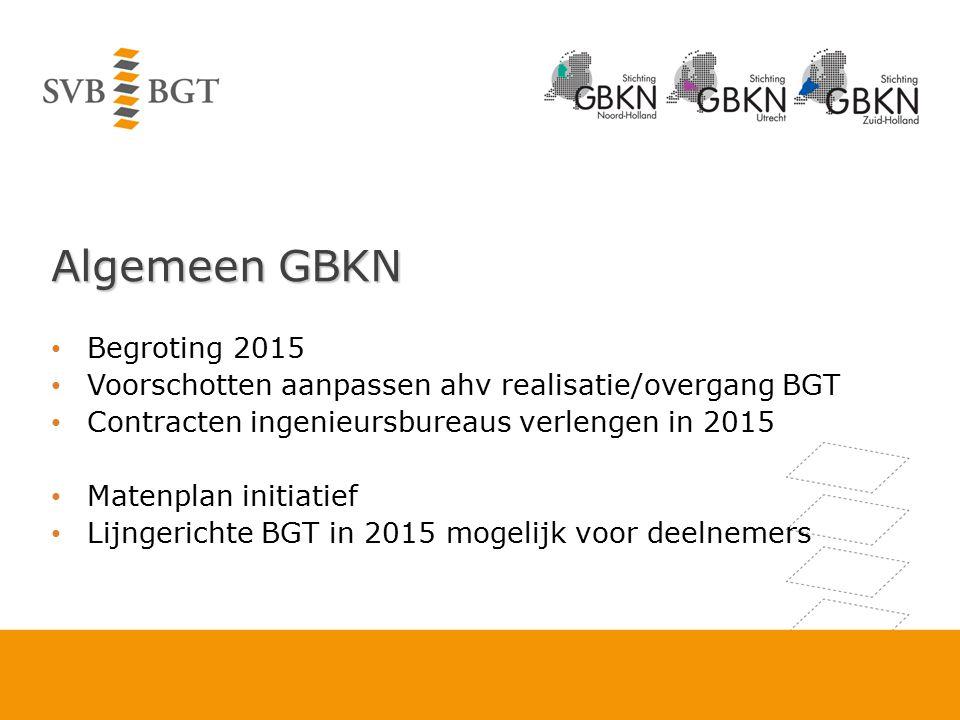 Algemeen GBKN Begroting 2015