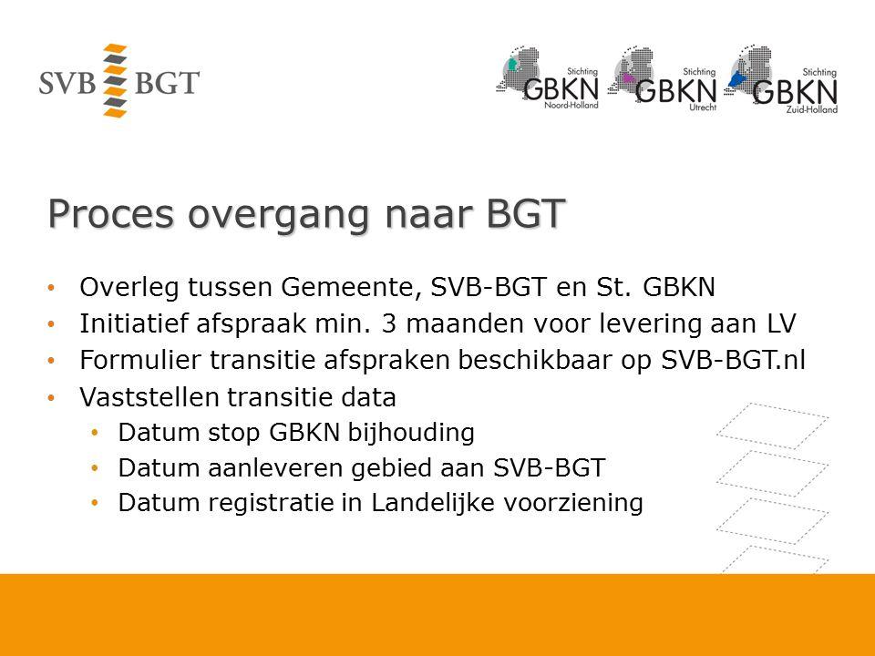 Proces overgang naar BGT