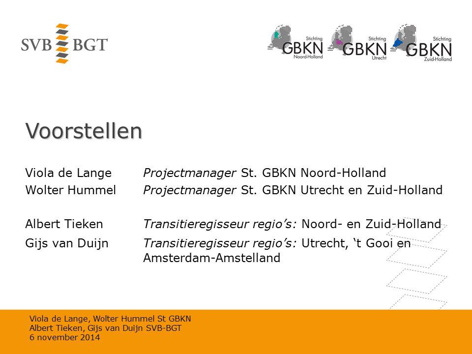 Voorstellen Viola de Lange Projectmanager St. GBKN Noord-Holland