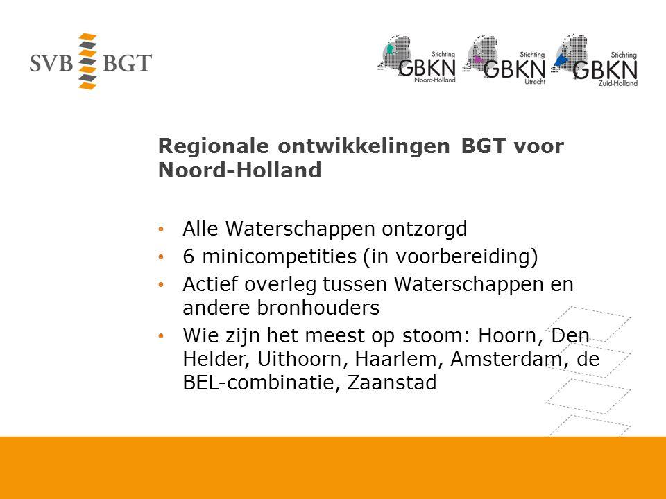 Regionale ontwikkelingen BGT voor Noord-Holland