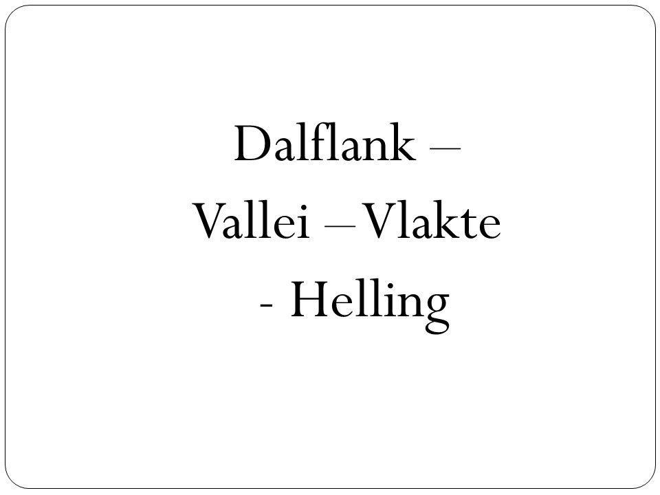 Dalflank – Vallei – Vlakte - Helling