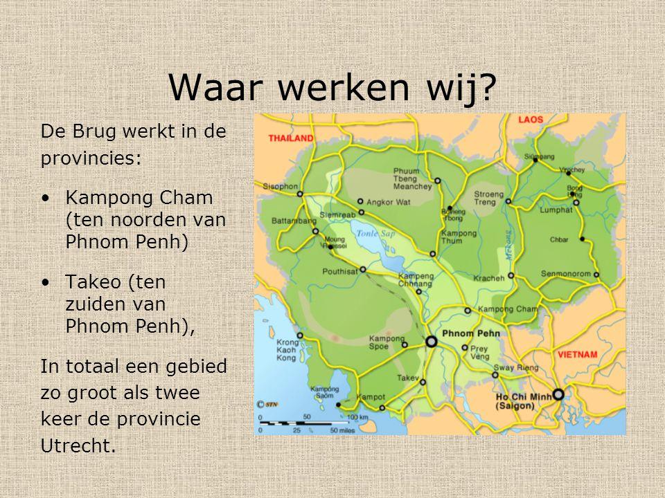 Waar werken wij De Brug werkt in de provincies: