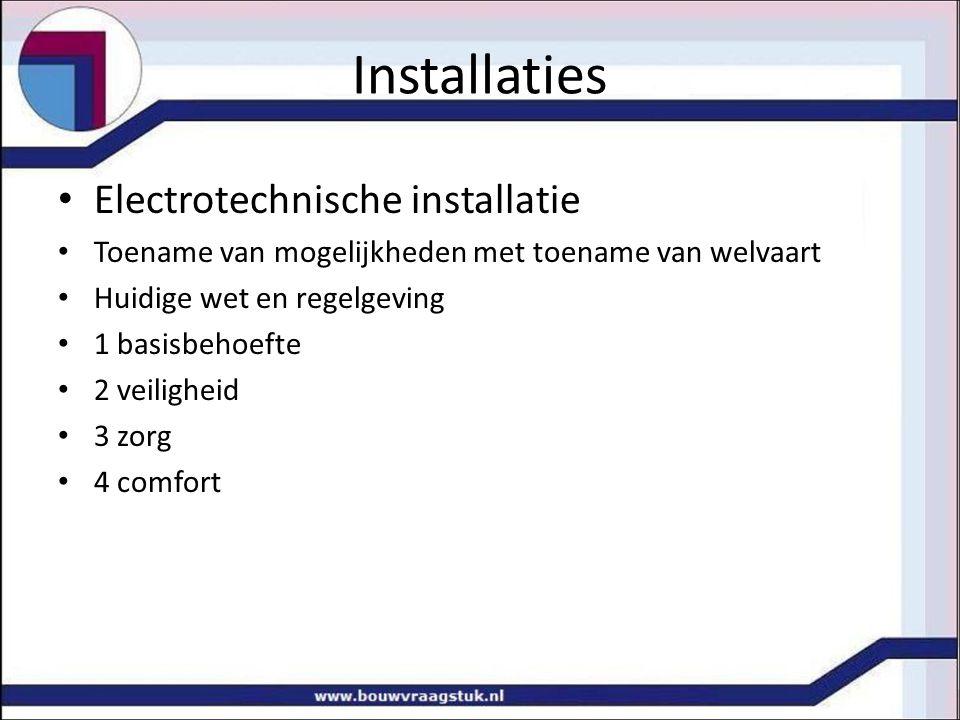 Installaties Electrotechnische installatie