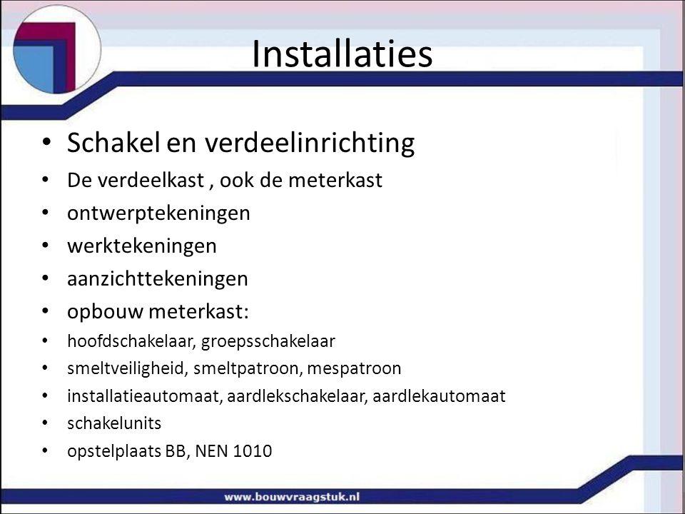 Installaties Schakel en verdeelinrichting