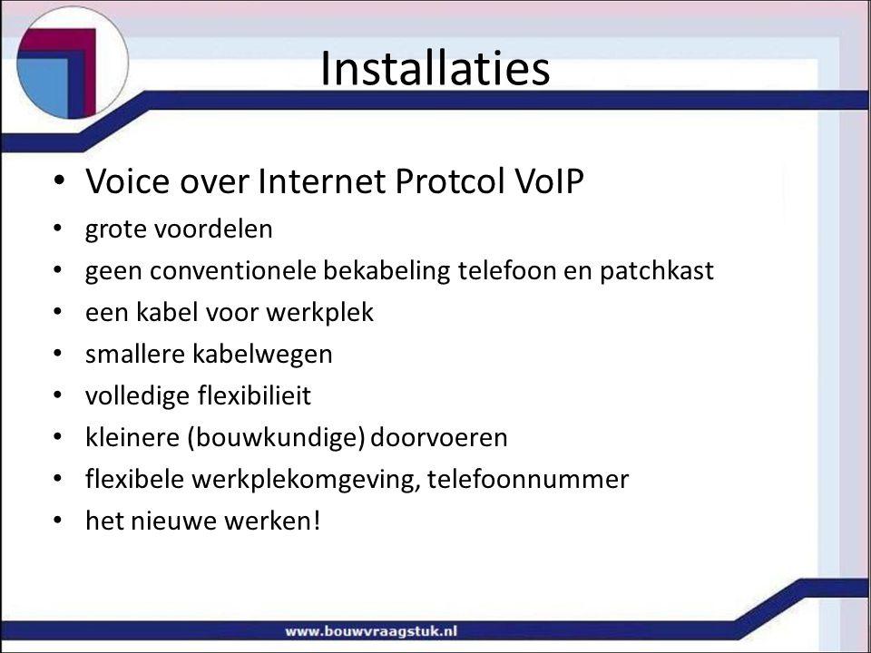 Installaties Voice over Internet Protcol VoIP grote voordelen