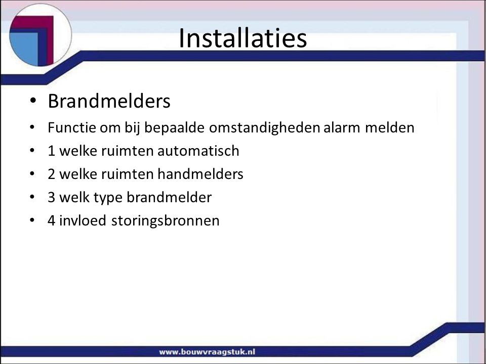 Installaties Brandmelders