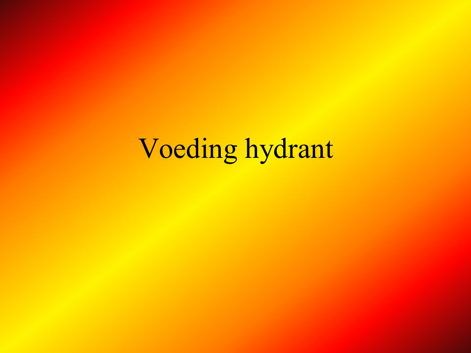 Voeding hydrant