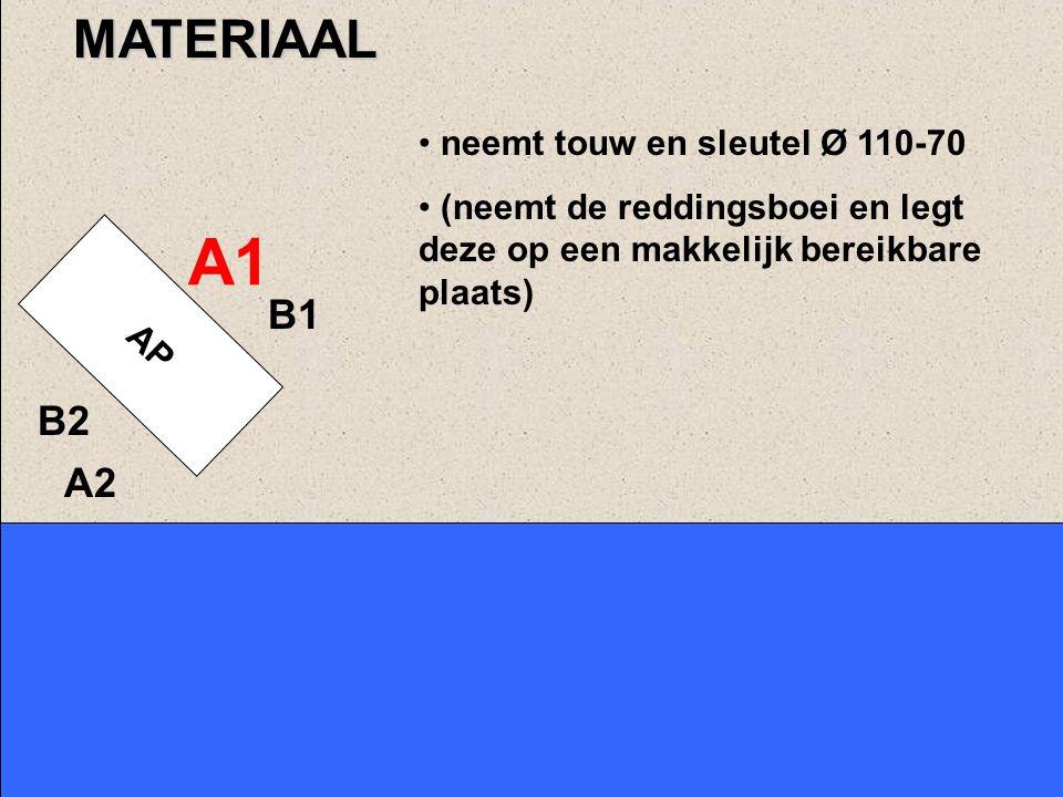 A1 MATERIAAL B1 B2 A2 neemt touw en sleutel Ø 110-70
