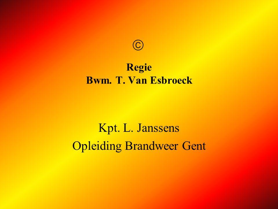 Regie Bwm. T. Van Esbroeck
