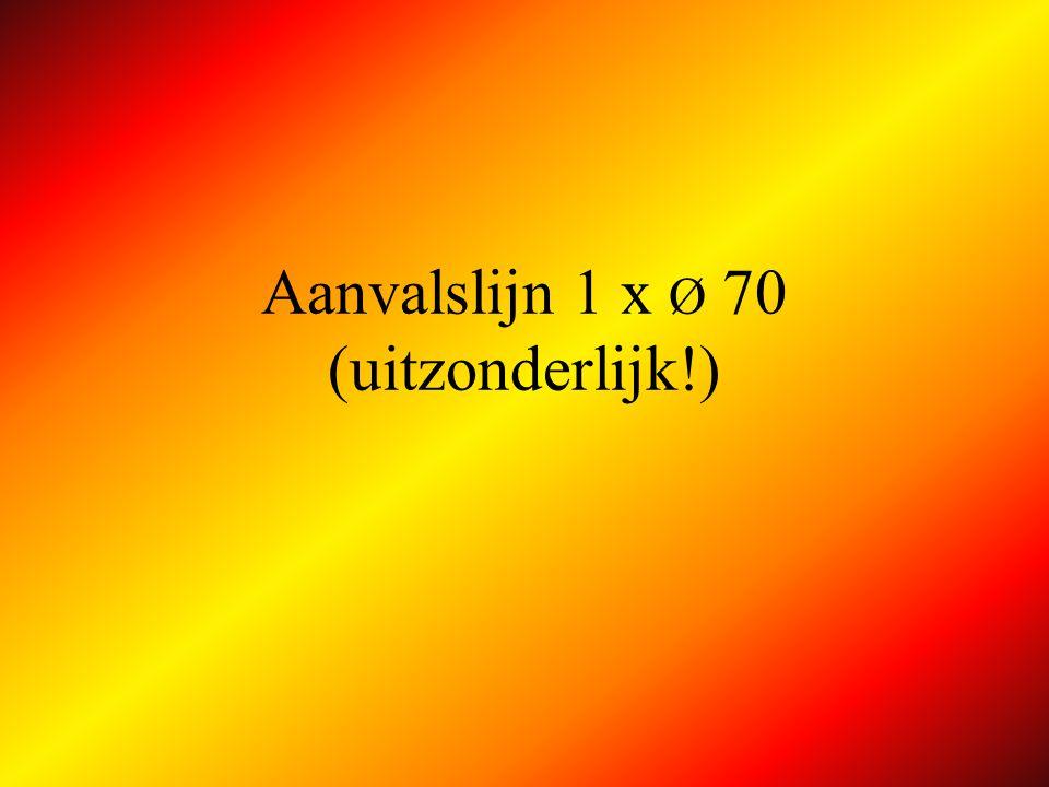Aanvalslijn 1 x Ø 70 (uitzonderlijk!)