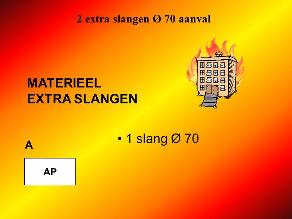2 extra slangen Ø 70 aanval MATERIEEL EXTRA SLANGEN 1 slang Ø 70 A AP