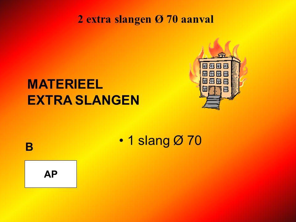 2 extra slangen Ø 70 aanval MATERIEEL EXTRA SLANGEN 1 slang Ø 70 B AP