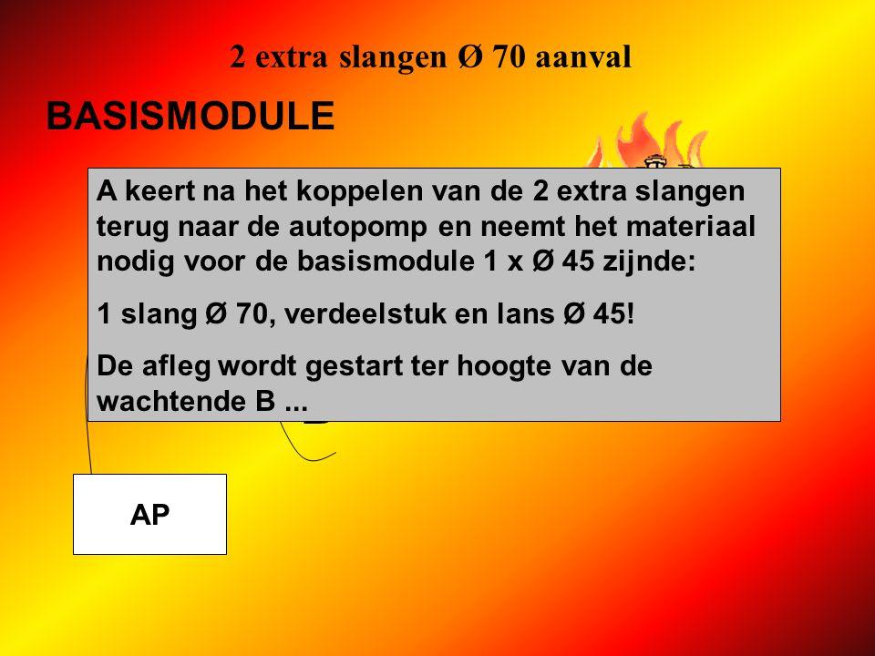 B BASISMODULE 2 extra slangen Ø 70 aanval