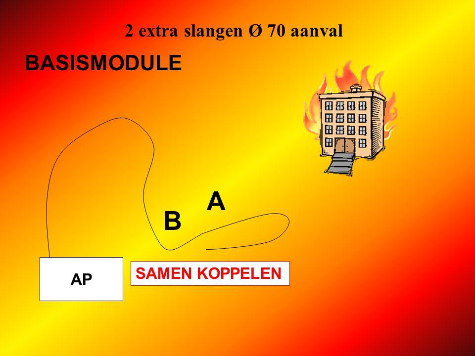 2 extra slangen Ø 70 aanval BASISMODULE A B AP SAMEN KOPPELEN
