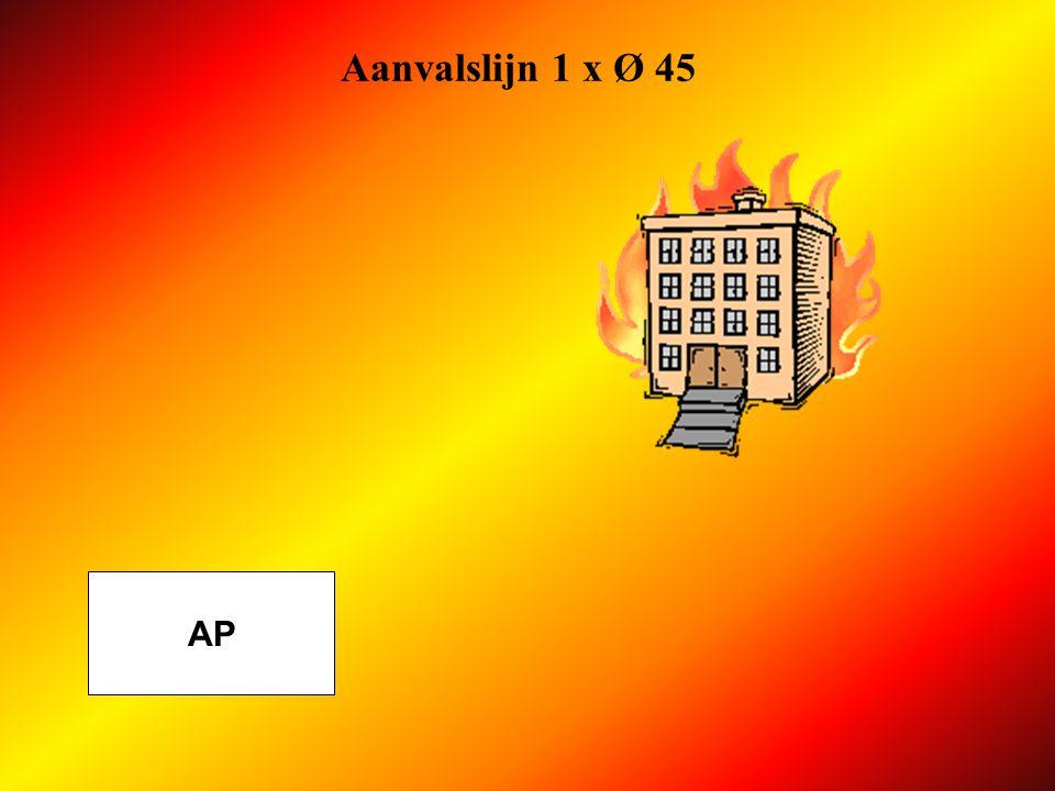 Aanvalslijn 1 x Ø 45 AP