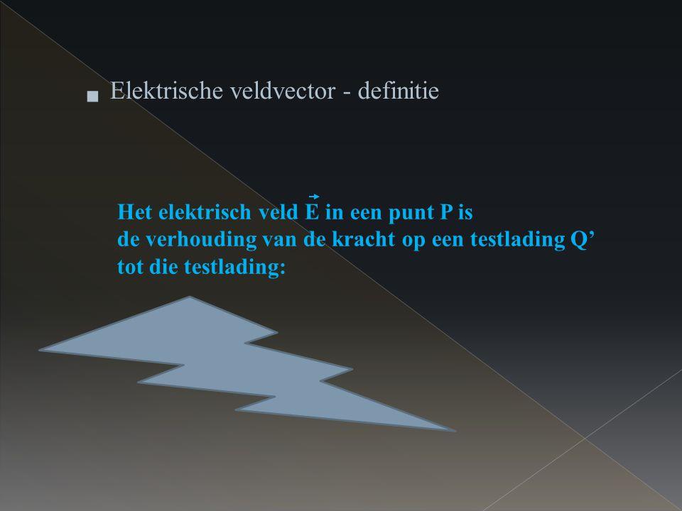 Elektrische veldvector - definitie