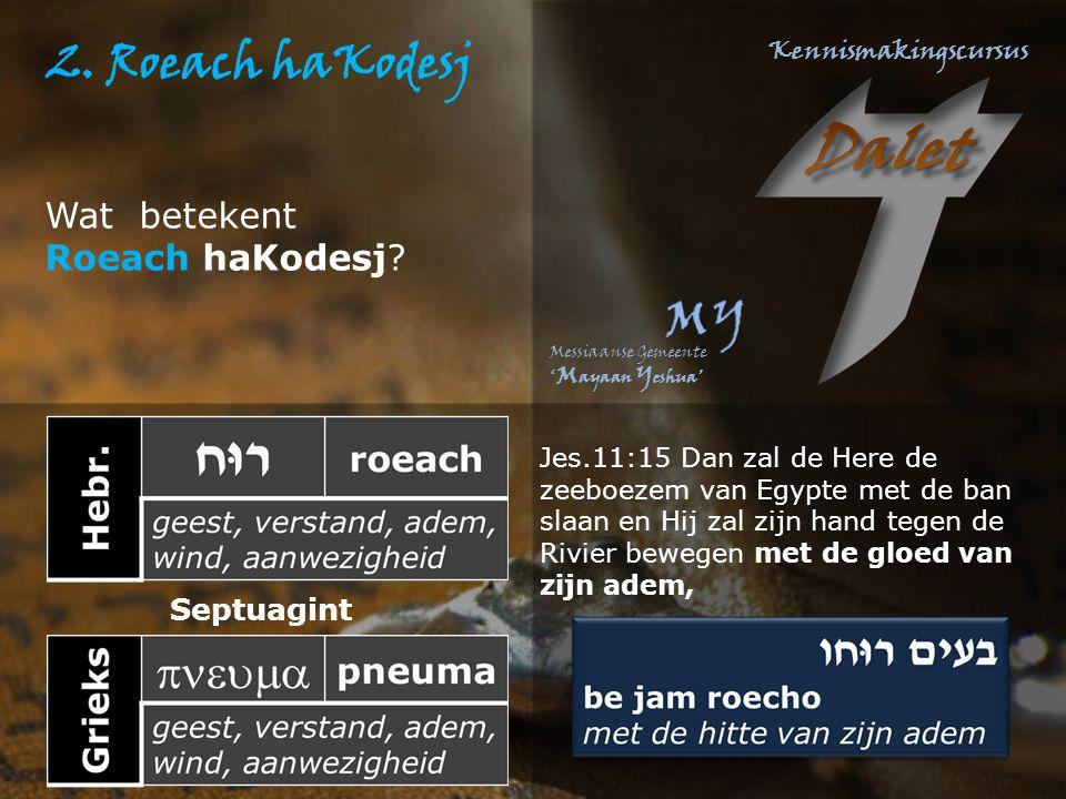 Wat betekent Roeach haKodesj Septuagint