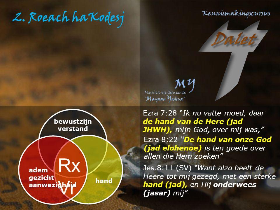 Ezra 7:28 Ik nu vatte moed, daar de hand van de Here (jad JHWH), mijn God, over mij was,