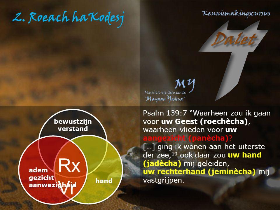 Psalm 139:7 Waarheen zou ik gaan voor uw Geest (roechècha), waarheen vlieden voor uw aangezicht (panècha)