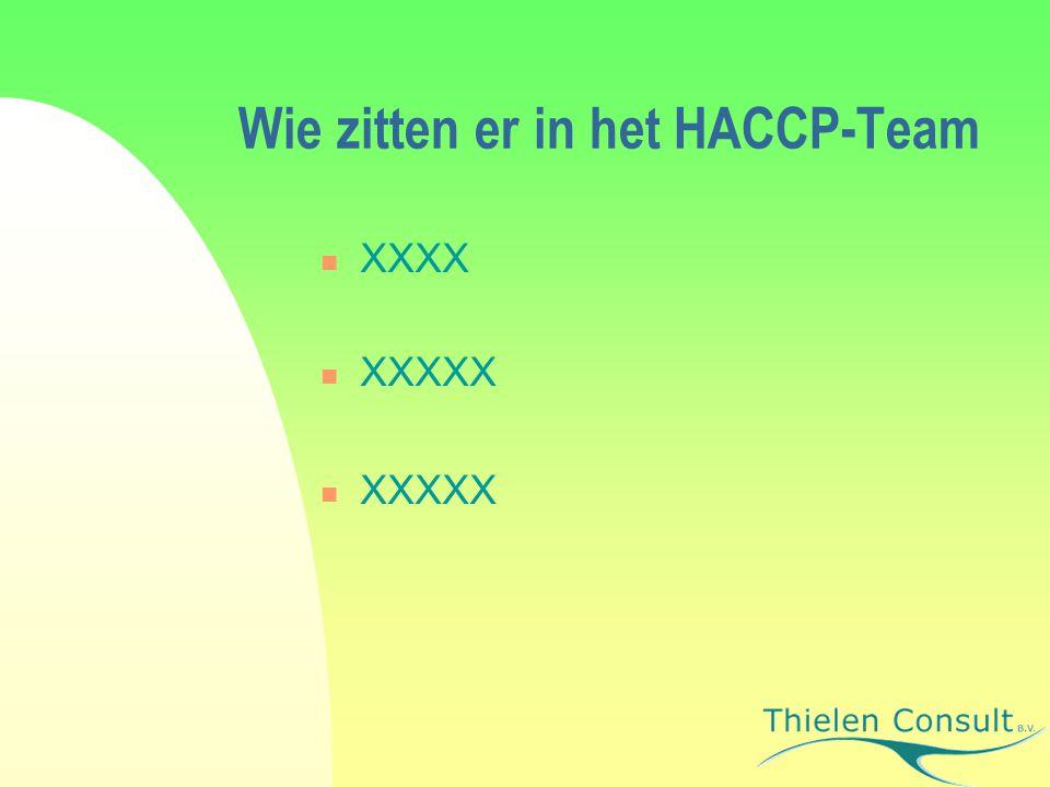 Wie zitten er in het HACCP-Team